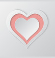 paper cut hearts background vector image