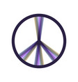 Peace sign colorful icon