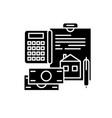 personal expenses black icon sign on vector image vector image