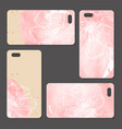 phone case delicate floral pattern vector image vector image