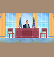 president sitting workplace wooden furniture usa vector image vector image