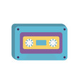 retro classic cassette music icon on white vector image