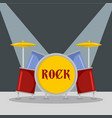rock drumms icon flat style vector image