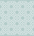 seamless geometric blue and white vector image vector image