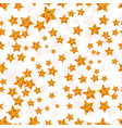 seamless pattern with flat decorative stars vector image