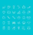 set line icons hockey vector image vector image