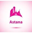 silhouette of Astana Kazakhstan vector image vector image