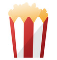 simple a red and white popcorn bag on white vector image