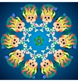 Skulls with bones and diamonds Cartoon Abstract vector image vector image