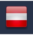Square icon with flag of Austria vector image vector image