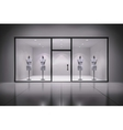 Store Interior With Mannequins vector image