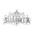 summer floral ornament vector image vector image