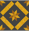 tile decorative floor gold and dark grey tiles vector image vector image