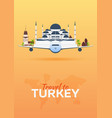 travel to turkey airplane with attractions vector image vector image