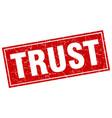 Trust square stamp vector image