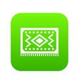 turkish carpet icon digital green vector image