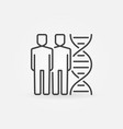 two people with dna concept outline icon vector image