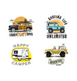 vintage surfing graphics and emblems set for web vector image vector image
