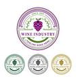 wine industry badge logo vector image vector image