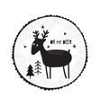 with cute dudle deer vector image