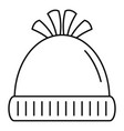 woolen winter hat icon outline style vector image vector image