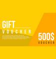 gift voucher flat design background vector image