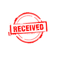 Received rubber stamp on white vector image