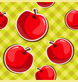 seamless texture of red apples vector image
