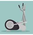 elliptical machine gym icon vector image
