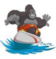 Funny monkey surfer vector image