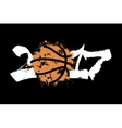 Abstract number 2017 and basketball vector image vector image
