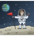 Astronaut On Moon vector image vector image