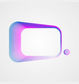 asymmetric rectangular frame of lines stylized vector image vector image