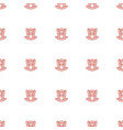 baby bed icon pattern seamless white background vector image vector image