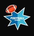 banner or emblem design with american football vector image vector image