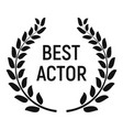 best actor award icon simple style