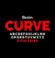 bezier curves style font vector image