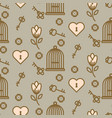 bird cage romantic seamless pattern vector image vector image