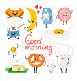 breakfast funny food vector image