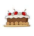 cake tart vector image