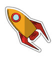cartoon rocket startup launch icon vector image