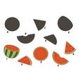 Cartoon watermelon vector image vector image