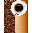 coffee and brown beans vector image vector image