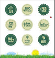 collection of organic bio natural labels 2 vector image vector image