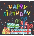 Colorful Birthday Background vector image