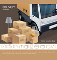 colorful delivery service concept vector image vector image