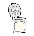 comic cartoon open tin can vector image vector image