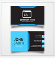 command line icon business card template vector image vector image