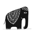cute elephant sketch for your design vector image vector image