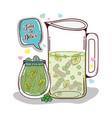 detox juice cartoon vector image